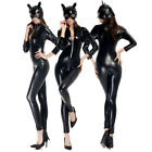 Halloween Catwoman Cosplay Costume Adult Sexy Women Cat Gothic Anime Fancy Dress
