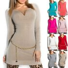 Women's Chain Long Sweater - One Size S/M/L