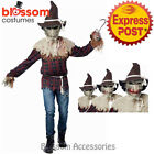 CL536 Sadistic Scarecrow Mens Halloween Scary Horror Costume Ani Motion Mask