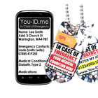 Medical Condition Identity Tag Talisman Chain In Case Emergency SMS Alerts* PEB