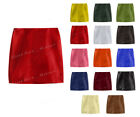 Luxury Genuine Leather Lady Wrapover Mini Skirt with Zip at The Back #S6