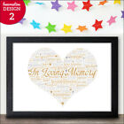 Personalised In Loving Memory Christmas Memorial Print Wedding In Memory Gift