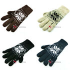 Unisex Mens Womens Ladies Thermal Snowflake Knitted Winter Warm Gloves Outdoor