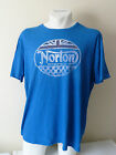 Lucky Brand Norton Badge Motorcycles Triumph British Flag Motors Tee T shirt $32.09 USD