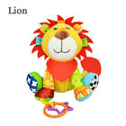 Hot Multifunction Infant Animal Plush Toy baby Sound Paper and Teether Toy