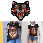 1 pc/2 pcs Tiger Iron On Sew on Embroidery Patches Applique Badge Clothes Bags