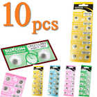 10x 1.55V AG0-AG13 Low Carbon Alkaline Button Coin Cell Battery for Watches Toy