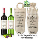 Personalised Engagement Bottle Bag and Label Wine Gift Wrapping Couple Wedding