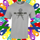 Brain Cancer Awareness Shirt Cancer Awareness Grey Ribbon T Shirt