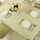 Colorful Grids Flower Rectangle Square Cotton Tablecloth Dining Room Anti-Water