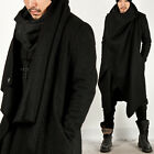 NewStylish Mens Fashion Outer Jacket Top Drape Turtle Cape Long Coat