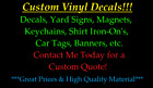 ~*~ CUSTOM ORDER VINYL DECAL for Walls banners signs tag yet