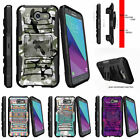 For Samsung Galaxy J3 Eclipse | J3 Mission (2017) Stand Clip Case Swamp Camo