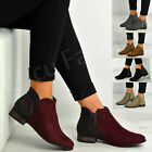 New Womens Ladies Side Zip Ankle Boots Fringe Tassel Comfy Shoes Size Uk 3-8
