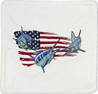 Embroidered Cushion Pillow Cover Marine Art Throw Pillow USA Flag Grand Slam