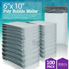 """#0 6x10 Poly Bubble Mailer Padded Envelope Shipping Bag 6""""x10"""" 25,50,100,250 Pcs"""