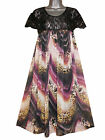 Plus size lace top printed baby doll dress