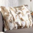 Real rabbit fur home decor sofa throw cushion cover One Size Fur pillow case