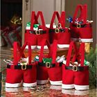 Christmas Candy Bag Santa Pants Gift & Treat Bags with Handle  Pack of 6