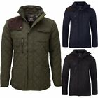 Soulstar Cord Shoulder Patch Quilted Padded Jacket  Mens Size