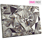 AB1572 silver shiny diamond metal Abstract Wall Art Picture Large Canvas Print