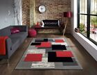 Modern Small Large Carved Quality Thick Silver Red Floor Rugs Long Runners Rug