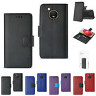 For Motorola Moto E4 Leather-Like 3-in-1 Flip Folio Wallet Case w/ Folding Stand