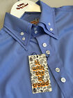 Blue Button Down Collar Slim Fit Shirt Mod In With The In Crowd S - XXL SALE