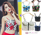 CHRISTMAS Womens Sexy Bustier Spotty Floral Crop Top Bralet Corset Plus Size