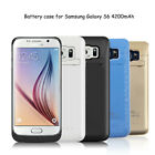 4200mAh Battery Case Power Charger Charging Cover For Samsung Galaxy S6 /S6 Edge