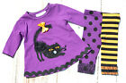 BONNIE BABY Halloween Outfit 0-3 3-6 Mos Top Leggings PURPLE New NWT 2 Piece