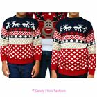 Kids Reindeer Fairisle Boys Xmas Jumper Christmas Novelty Sweater Pull Over Top