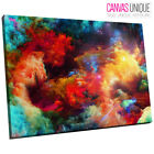AB361 Trippy Colour Space Galaxy Abstract Canvas Wall Art Framed Picture Print