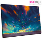 AB862 Impressionist Night Sky Abstract Canvas Wall Art Framed Picture Print