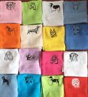 Dog designs, flannel/cloth, Personalised with ONE name, £3.95 inc P&P