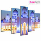 PC964 Blue Mecca Grand Mosque Scenic Multi Frame Canvas Wall Art Print