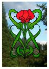 Art Nouveau  Stained Glass Effect Window Art Decor Cling