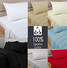 100% Egyptian Cotton Fitted Sheet 200 Thread Count Single Double King Super King
