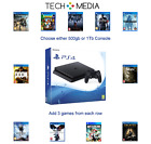 PlayStation PS4 slim 500gb or 1Tb Bundle, 3 Games Ships Same Day mon-fri b4 3pm