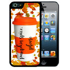 PUMPKIN SPICE FALL COFFEE RUBBER CASE FOR iPHONE X 8 7 6 SE 5C 5S PLUS HOLIDAY