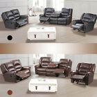 3+2+1 Seater Sofa Set Loveseat Couch Recliner Leather Living Room Furniture