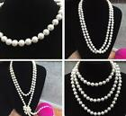 Hot Contracted temperament Fashionable long pearl sweater chain Necklace