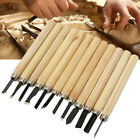 12Pcs Wood Carving Hand Chisel Woodworking Tool Set Woodworkers Gouges Gift