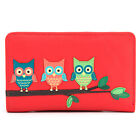 Women's Genuine Leather Flap Over Purse with Owl Applique by 1642 - RRP £25