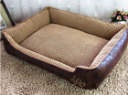 Deluxe Medium/ LargeDog Bed Coffee Color  Detachable Waterproof Durable Washable