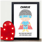 Will You Be My Page Boy Usher Best Man Personalised Batman Wedding Gift Print