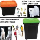 New Dry Food Seed Storage Container For Pet Dog Cat Birds Storage Box With Scoop