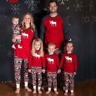 Moose Christmas Family Pajamas Set Nightwear Sleepwear for Adult Women Infant
