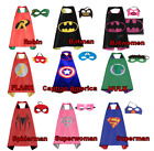 TOP Superhelden Umhang Cape Kinder Heros mit Maske Halloween Kostüm Batman