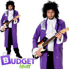 Purple Rain Prince Mens Fancy Dress 1980s Pop Icon Celebrity Adults Costume New